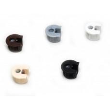 Корпус RAFIX пластик коричневый 16мм (263.10.103)  (уп. = 1000шт)