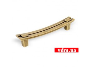 15037Z1280B.07 ручка L-128mm старое золото (152*18мм)
