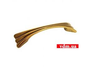15055Z1280B.07 ручка L-128mm старое золото (171*35мм)