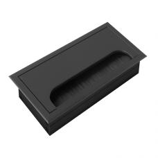 Заглушка для кабеля Merida прямоугольная 80х160мм, черный (LB-80x160-20)