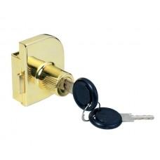 Замок д/стекл. дверей двойной  Х-917 золото   14.09.226