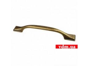 15090Z1280B.09 ручка L-128мм старое золото (178*23мм)