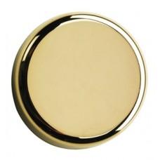 Заглушка круглая под чашку петли для стеклянных дверей, золото  84.4140