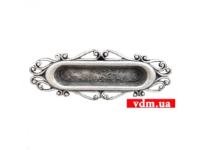 15258Z13400,25 ручка врезная L-96мм старое серебро (134*45мм)