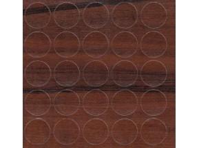 400 Заглушка самоклейка д-14мм конф. макассар (25шт)