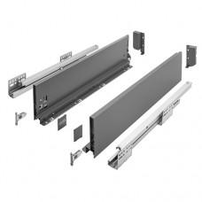 Ящик AXISPRO GTV L-450мм Н=116мм средний с ДОВОДОМ, полного выдвижения антрацит (PB-AXISPRO-KPL450B)