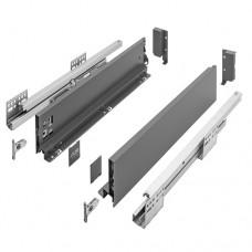 Ящик AXISPRO GTV L-450мм Н=84мм низкий с ДОВОДОМ, полного выдвижения антрацит (PB-AXISPRO-KPL450A)