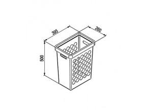 Корзина для белья 33 л+крышка, белая REJS (260х395х600мм) (TE22.6696.05.013)