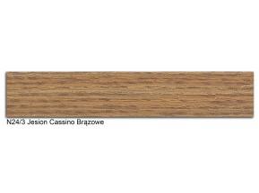 24/3 N лента ABS 22х0,45мм ясень кассино бронзовый