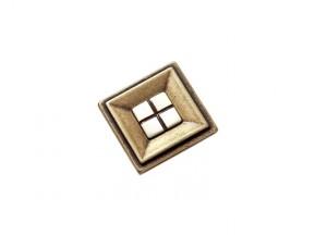 2G11135Z.FL ручка 1-kpепление старое золото (квадрат/фарфор) (35*35мм)