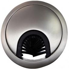 Заглушка для кабеля металлическая d-60мм сатин GTV (PM-LBFI60-02)