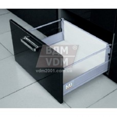 Ящик Modern Box GTV L-450мм Н=135мм средний С ДОВОДОМ полного выдвижения (2 релинга) (PB-D-KPL450B)
