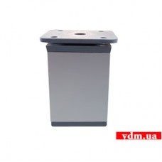 ALU Ножка мебельная ALU квадрат 40 х 40мм h-60mm с регулир. алюминий (TB07.2107.18.035)