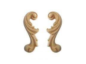 032 Орнамент из древесной пыли прав., лев. (8x3см) /F560032/