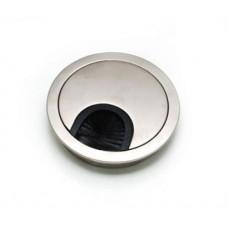 Заглушка для кабеля металлическая d-80мм алюминий