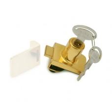 Замок д/стекл. дверей одинарн. (метал ключ) квадратн. золото 14.09.523-0 SISO