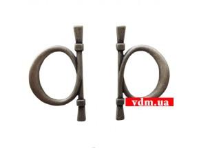15045Z0780B.25 ручка L-64мм старое серебро (84*48мм)