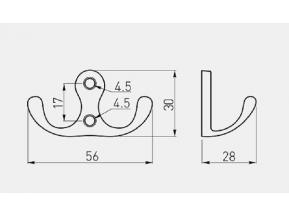 1904 WP крючок хром (Z-391.G2) (WZ-CO-K24-01)