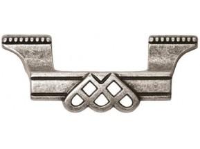 15144Z06400.25 ручка L-64мм старое серебро (100*37мм)