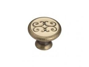 24134Z03000.BD (L.09) ручка 1-крепление d-30мм старое золото+бежевая эмаль
