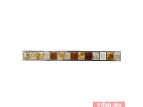 15300Z0128B.32 ручка L-128мм нержавеющая сталь / камень янтарь (мелкие камни) (170*14мм)