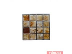 24300Z05200.32 ручка L-032мм нержавеющая сталь / камень янтарь (мелкие камни) (52*52мм)