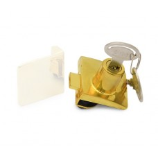 Замок д/стекл. дверей двойной (метал ключ) квадратн. золото 14.09.558-0 SISO