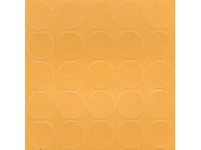 074 Заглушка самоклейка д-20мм миниф. желтый кроноспан (28шт)