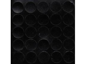 324 Заглушка самоклейка д-20мм миниф. черный структура (28шт)