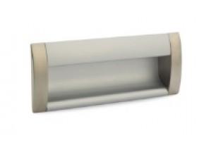 08 C00 06 UA ручка врезная L-128мм сатин/алюминий