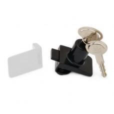 Замок д/стекл. дверей одинарн. (метал ключ) квадратн. черный 14.09.522-0 SISO