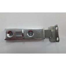 Задвижка мебельная простая метал №2 оцинкованная МАЛАЯ(ZP+blaszka ZU)