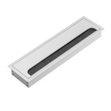 Заглушка для кабеля Merida прямоугольная 80х280мм, алюминий (LB-80x280-05)