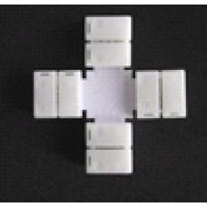 Соед-ль-плата +-образный+4-зажима для ленты LED SMD5050 10мм  (492)
