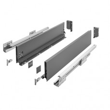 Ящик AXISPRO GTV L-500мм Н=116мм средний с ДОВОДОМ, полного выдвижения ,белый(PB-AXISPRO-KPL500В1)