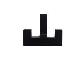 2202-К-CZ WZ Крючок К2202 черный двойной (WZ-K2202-CZ  )