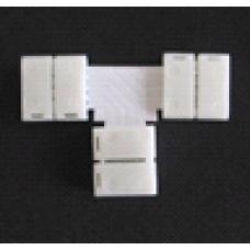 Соед-ль-плата Т-образный+3-зажима для ленты LED SMD5050 10мм  (491)