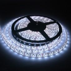 Лента изолированная IP-65 5050 - 60 LED - 14,4w -12V-10mm БЕЛЫЙ холодный, L-5м   (10-12 lm)