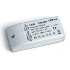 Трансформатор LED   12-8W в пластике IP44 (90х42х19мм)
