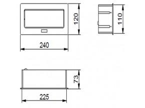 Блок розеток прячущийся алюм. SOFTс проводом 1,5м (3 евророз.) (AE-PBSC3GS-53)(Е.)