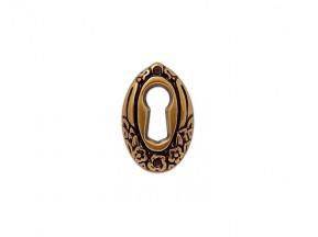 30850.038VO.07 накладка для ключа вертикальная старое золото (25*38мм)