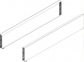 378M4502 SА.L Царга TANDEMBOX plus  L-450мм Н-83мм, ПРАВАЯ, серый INTIVO