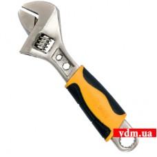 Ключ разводной VOREL с обрезиненной рукояткой 150 мм
