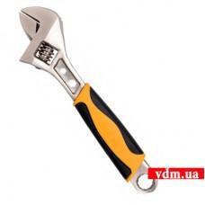 Ключ разводной VOREL с обрезиненной рукояткой 200 мм