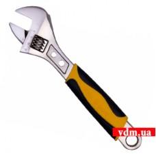 Ключ разводной VOREL с обрезиненной рукояткой 250 мм