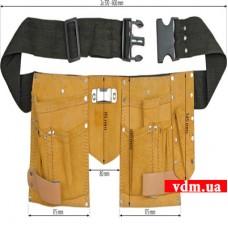 Пояс монтажника VOREL кожаный 11 отделений (78750)
