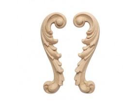 033 Орнамент из древесной пыли левый, правый (10,5x3см) /F560033/