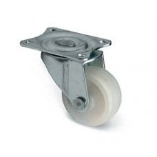 Колесо d-30 h-50mm без стопора пластиковое белое  GTV (KM-015030-10) ( нагр. 13,5кг)