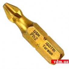 """Отверточная насадка с титановым покрытием USH Torsion 1/4"""" PH2 x 25 мм 10 шт (UUSG0022342)"""