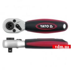 """Трещотка YATO 72 зубца 1/4"""" 136 мм"""